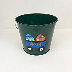Personalized Easter Bucket / Basket- Easter Wagon