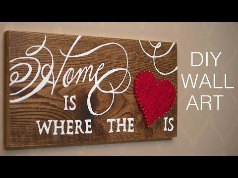 DIY Wall Art | Home Decor Project - YouTube
