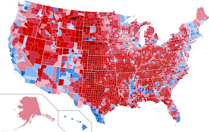 Trump won 84% of geographical America. I'd say that's a win! Inner cities go for democrat handouts but handouts are no way to make America great again.