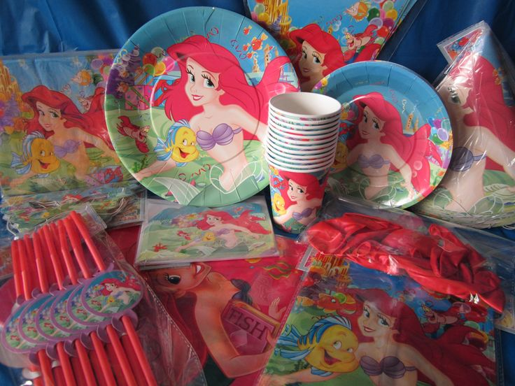 "Ariel The Little Mermaid birthday party supplies ""Over The Rainbow Party Supplies- Medicine Hat"""