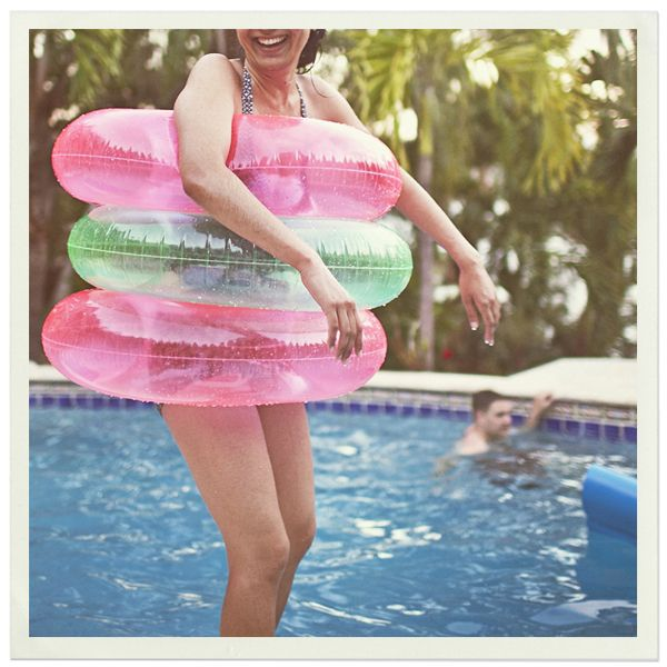 summer fun poolside