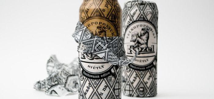 La marque de bière Velkopopovický Kozel imagine une canette en bois !