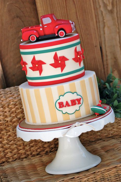 Vintage Toy Baby Shower by Royal Bakery (10/8/2012).  View Cake Details Here: http://cakesdecor.com/cakes/31568