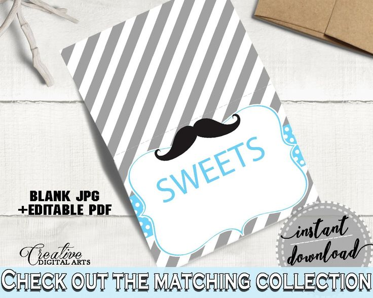 Food Tents, Baby Shower Food Tents, Mustache Baby Shower Food Tents, Baby Shower Mustache Food Tents Blue Gray printable files - 9P2QW - Digital Product baby shower baby shower party newborn mommy to be
