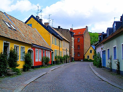 Lund, Sweden Love the colourful buildings