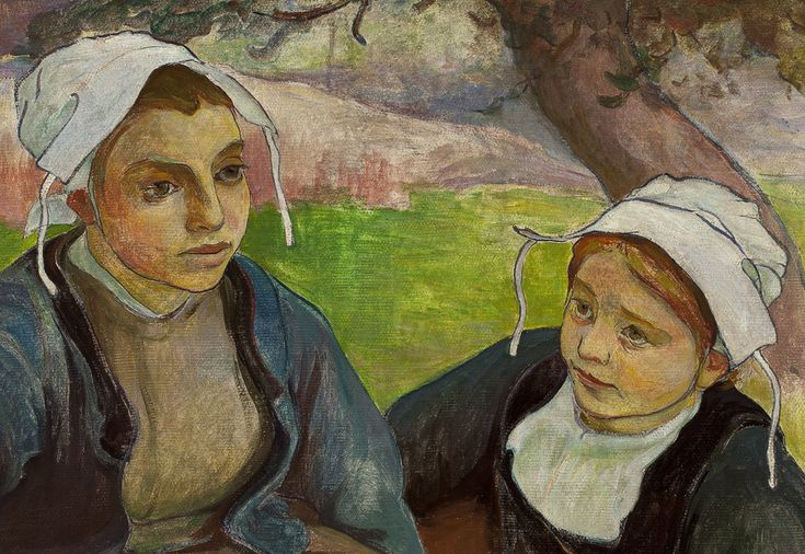 Władysław Ślewiński dwie bretonki, malarstwo polskie