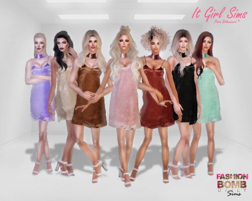 Cetim Party Dress : Download Here Thanks @alwayssims2 ♥