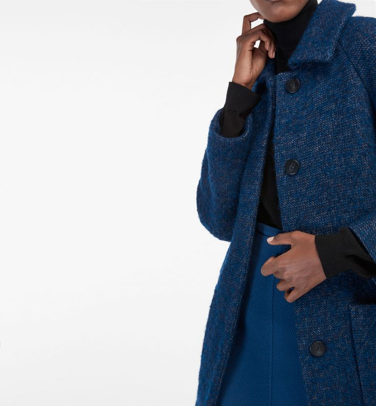 DEEP BLUE DESTRUCTURED COAT