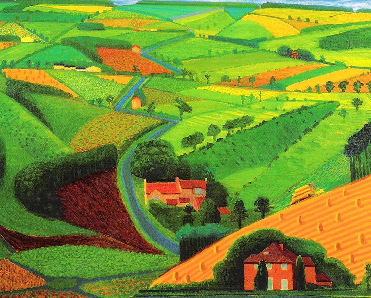 david-hockney-the-road-across-the-wolds-1997-oil-on-canvas.jpg 1,213×977 pixels