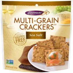 Crunchmaster GF Multi-Grain Crackers (sea salt flavor only)   (found at Meijer, Costco, Sam's Club, Target)