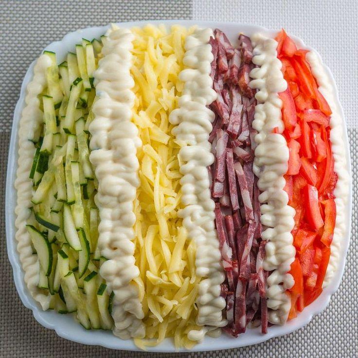 Салат Елисейские поля. Простой и красивый салат на праздничный стол | NashaKuhnia.Ru