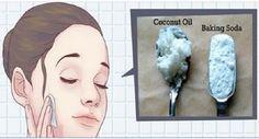 Esta é a forma certa de usar óleo de coco e bicarbonato no rosto para ficar anos mais jovem!   Cura pela Natureza