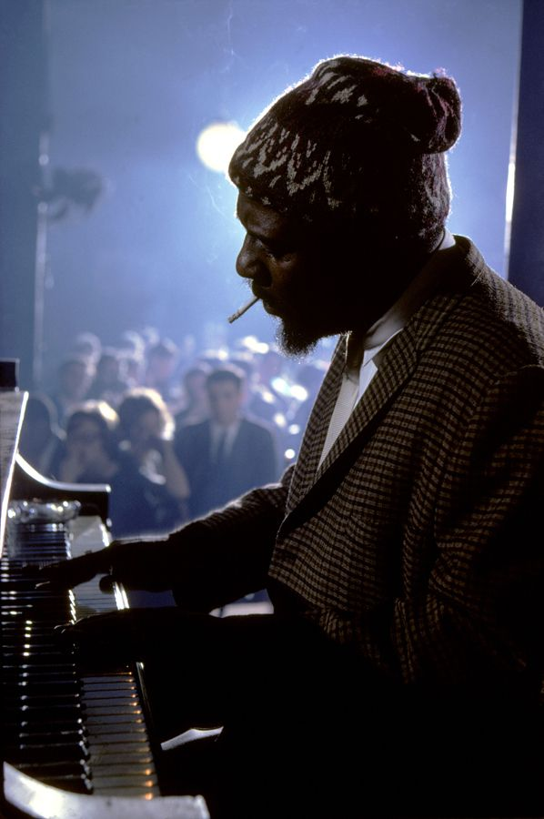 Burt GLINN :: Thelonious Monk performing at the Newport Jazz Festival [better known as the JVC Jazz Festival since 1984]  in New York City, 1975