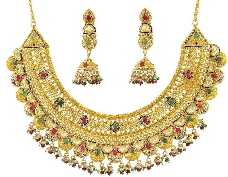 Massive Wedding Gold Necklace