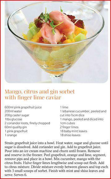 Finger Lime dessert.
