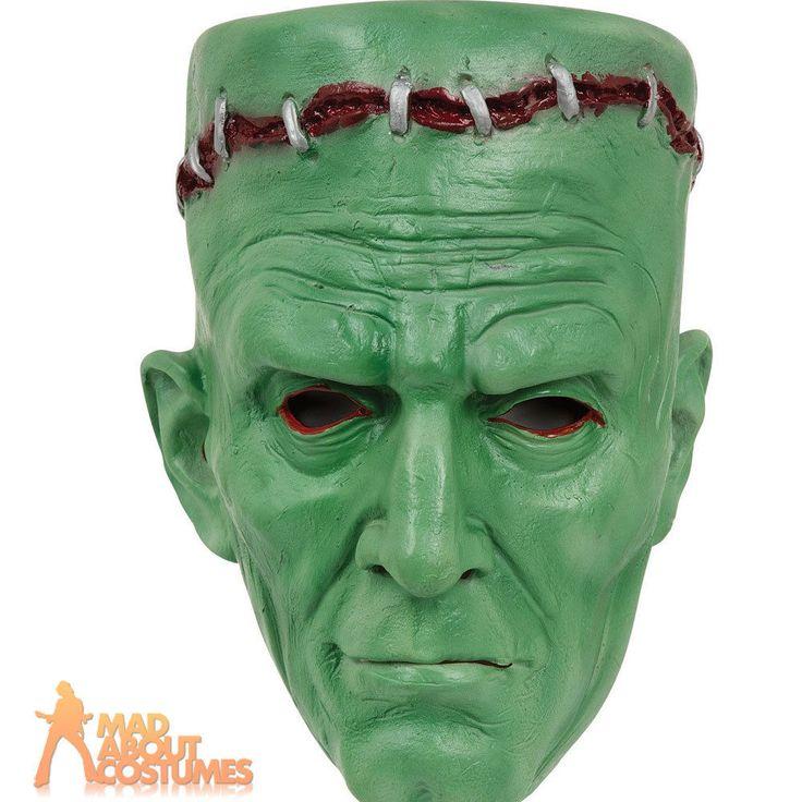 Adult Frankenstein Mask Halloween Zombie Horror Fancy Dress Accessory New