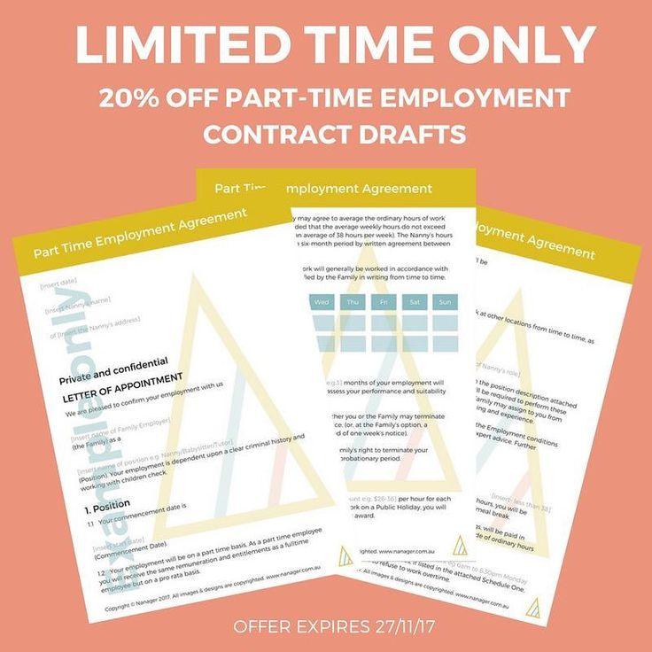 Die besten 25+ Part time nanny Ideen auf Pinterest Bruder - advertising contract template