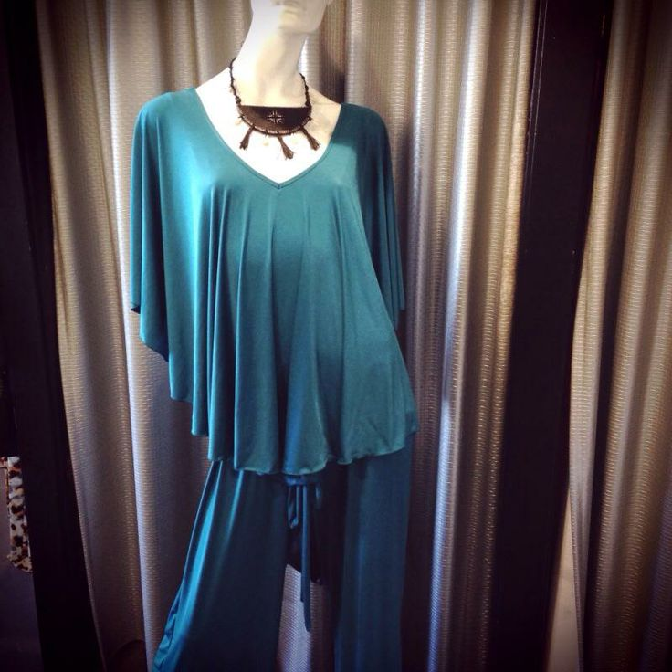 NEW arrival! Mode Voyage Frill Neckline Jumpsuit $189. All sizes in store!