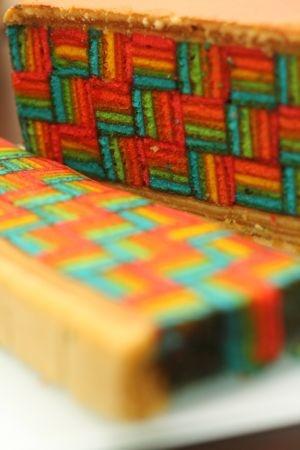 Rainbow Kuih Lapis (Malay layered cake) - pretty and oh so yummy