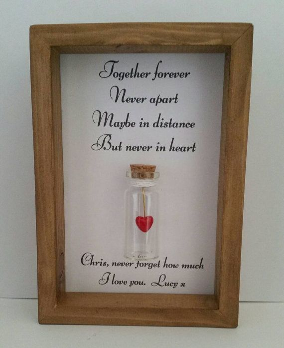 Long distance relationship, Long distance love, Missing you card. Personalised gifts. Can be personalised with names or your own message.