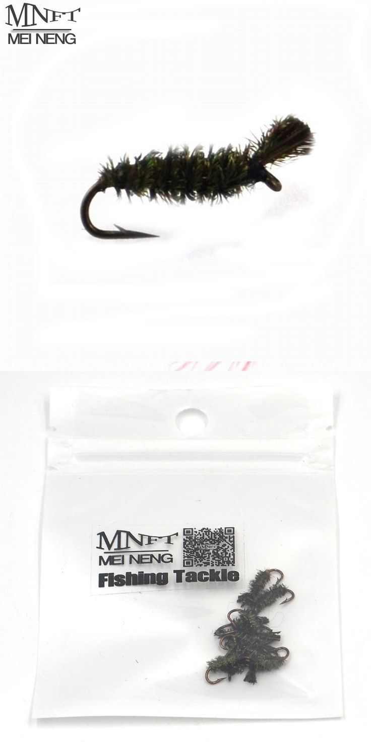 [Visit to Buy] MNFT 10PCS Hand Made Green Peacock Hair Green Larva Caddis Flies Fly Fshing Fly Fake Lure #14 #Advertisement