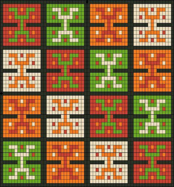Square stitch, loom pattern