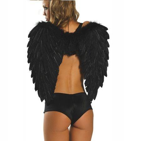 ALAS  NEGRAS ANGEL PARA DISFRAZ BY M&S LINGERIE.  Fantásticas alas para disfraz de ángel o para uso libre, de la coleccion M&S Lingerie.Tamaño largo de Alas 65 cm. M&S Lingerie nace como marca blanca low cost ofreciendo productos de máxima calidad a un precio reducido, sin dejar atrás los detalles. https://discreetintimate.com/complementos-lenceria/2633-alas-negras-angel-para-disfraz-ms-lingerie.html