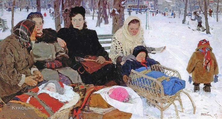 USSR, winter, moms