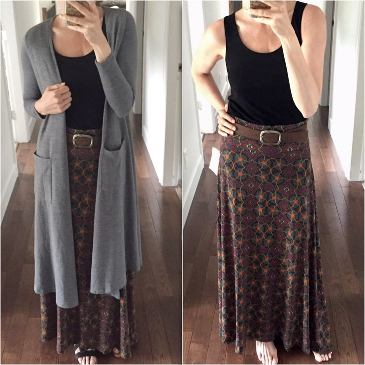 LulaRoe Outfit of the Day! Paired a LulaRoe Sarah with a LulaRoe Maxi - perfect for Fall, Spring & Summer! Style Box from LulaRoe Lori Murphy!