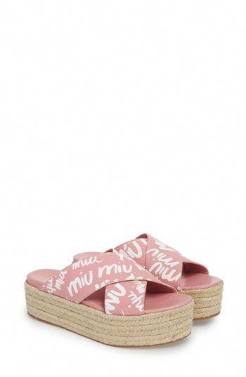 b6132094019e You may buy Miu Miu Logo Platform Espadrille Sandal (Women)  MiuMiu ...