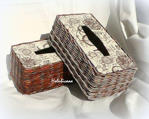 Krabička na vreckovky s patinou / holubicaaa - SAShE.sk - Handmade Krabičky