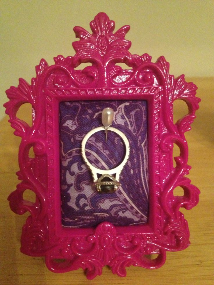 DIY Engagement Ring Holder...These would make adorable engagement gifts!