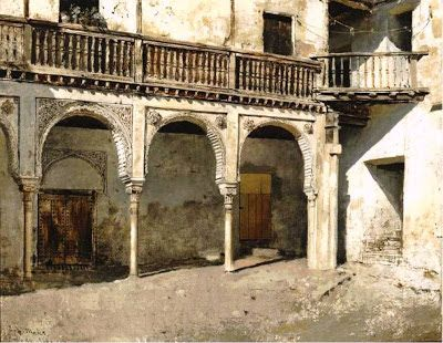 Granada courtyard. Edwin Lord Weeks, 188?