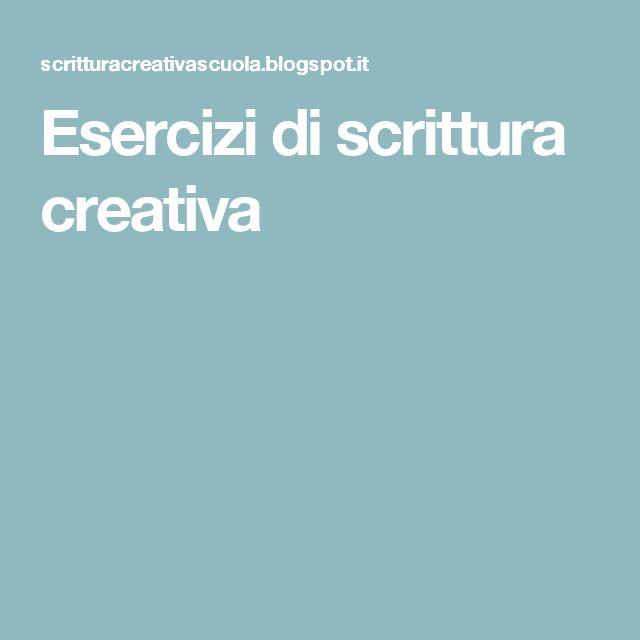 Esercizi di scrittura creativa