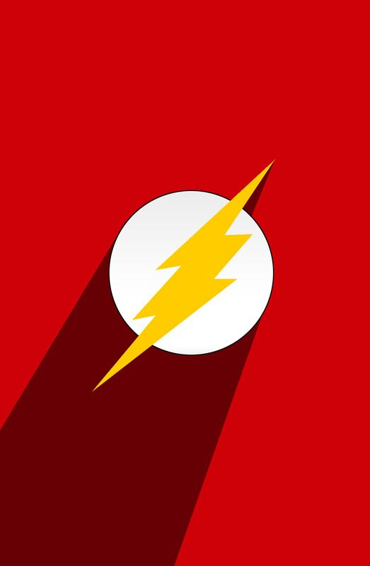 superhero long shadow the flash art print the ojays