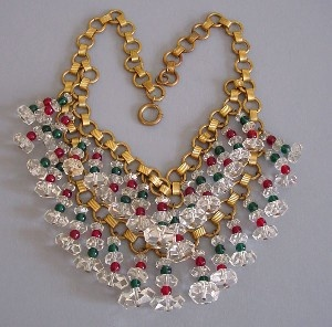 Miriam Haskell 1940s bib necklace by Hess...not quite for me