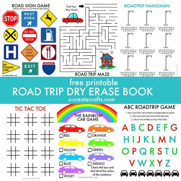 Free Printable ROAD TRIP activity book by U Create