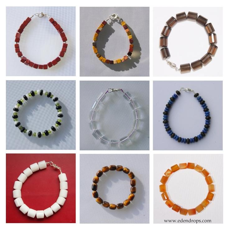 Men's & unisex bracelets with semi-precious stones