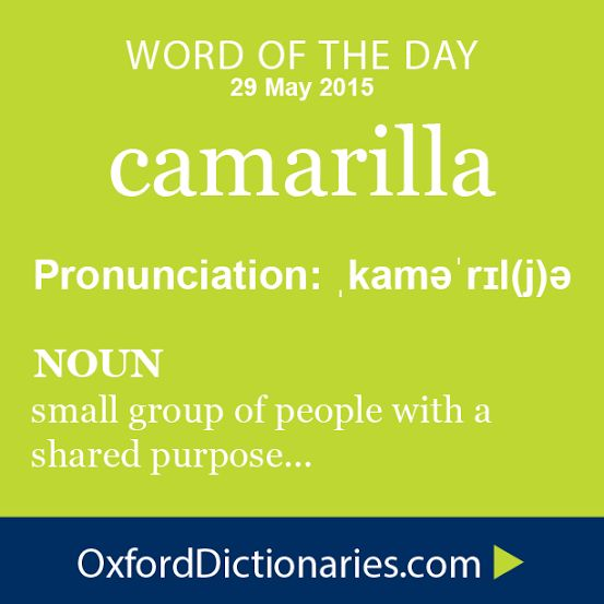 Word of the Day: camarilla Click through to the full definition, audio pronunciation, and example sentences: http://www.oxforddictionaries.com/definition/english/camarilla #WOTD   #wordoftheday