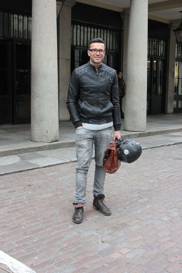 """MOTOR-MAN"" #leather #motorcycle #greyjean #streetstyle"