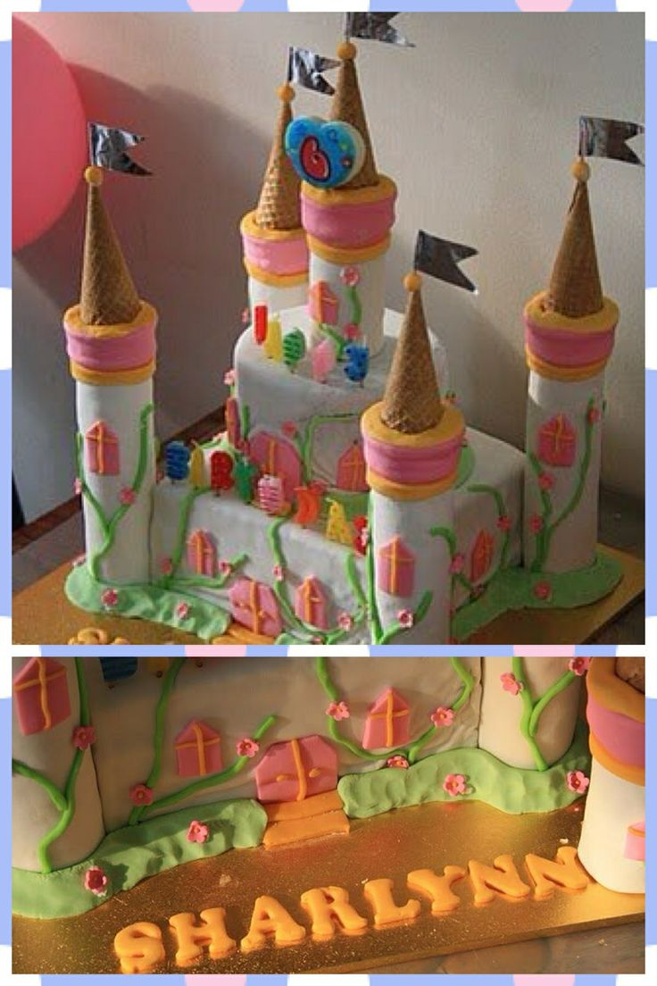 Castle birthday cake for a princess