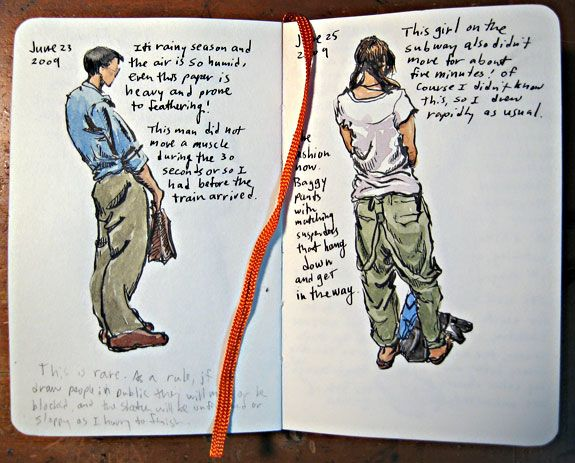 Sketching With a Moleskine I dont use moleskine; but love these sketch ideas