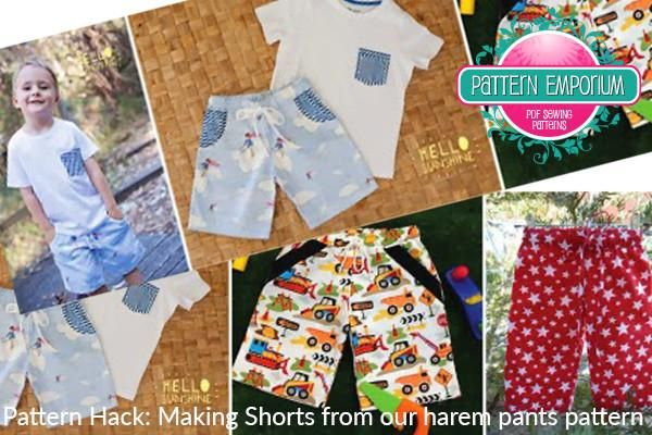 Pattern Hack: make shorts Sewing pattern by Pattern Emporium
