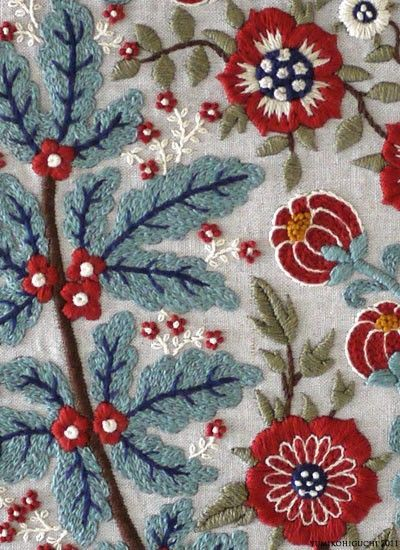 Wool embroidery..