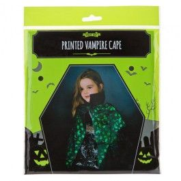 To truly look like a mysterious and menacing Vampire, this printed silver Vampire cape is great for completing your Halloween dress up!