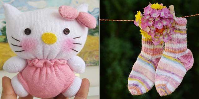 Coniglietti, civette e perfino Hello Kitty: ecco come realizzare dei pupazzetti per i più piccoli avvalendosi del riciclo creativo e a partire da vecchi (ma non troppo) calzini.