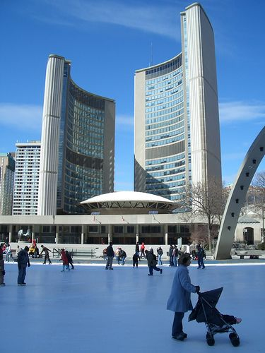 Toronto City Hall-The City Hall of Toronto, Ontario, Canada is the home of the city's municipal government and one of its most distinctive landmarks.