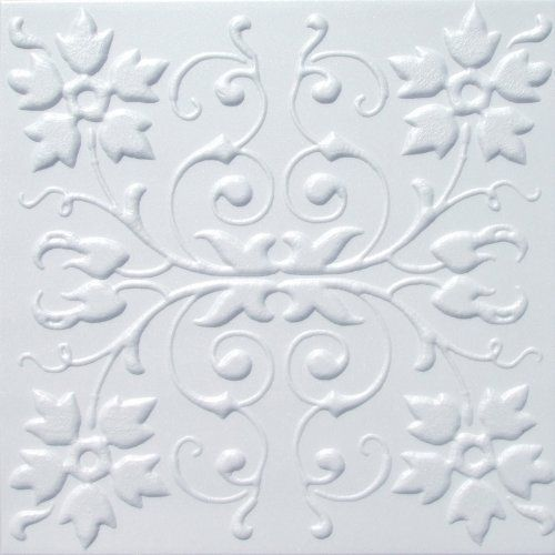 Faux Ceiling Tile 20x20 Capri White Foam By Antique