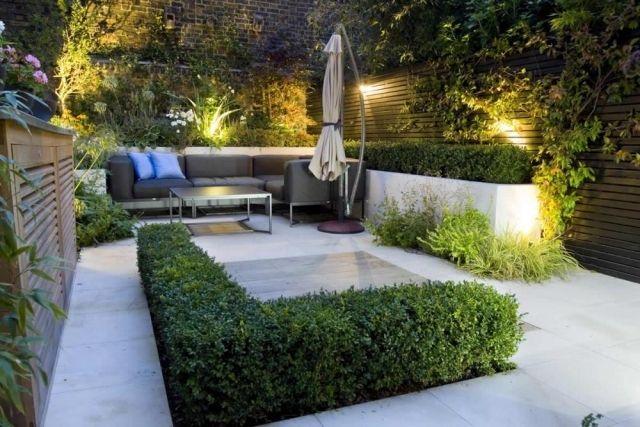 Moderne Patio-Ideen Garten blickfang Möbel-Terrasse Außenbereich-Beleuchtung
