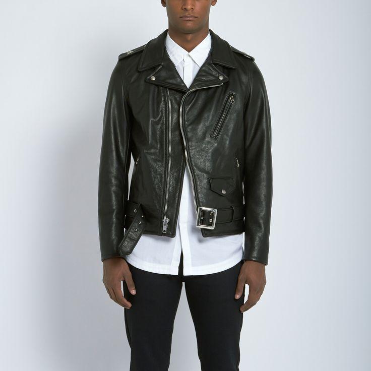 Schott Perfecto Waxy Natural Cowhide 50's Jacket in Black | Atrium